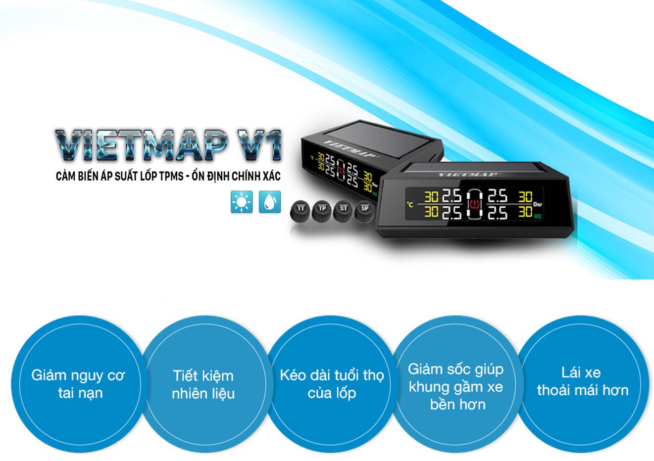 cảm biến áp suất lốp xe ô tô TMPS VIETMAP V1